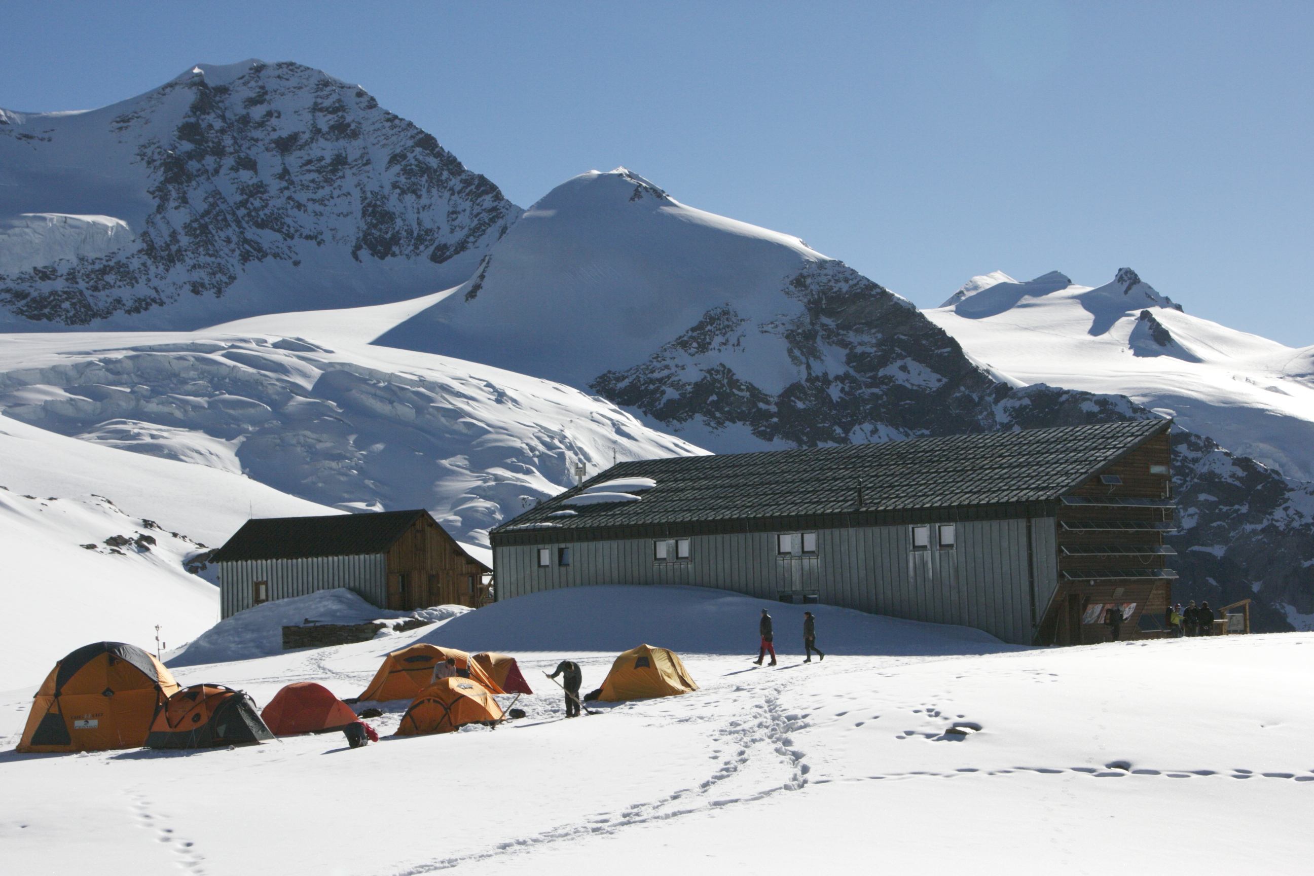 Quintino Sella Refuge, 3585 m above sea level.